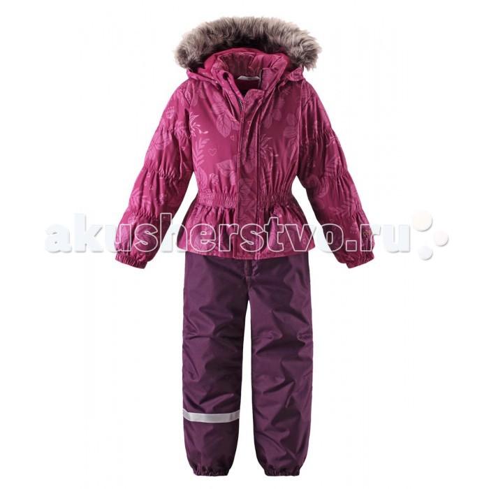 Lassie by Reima Комбинезон зимний 720714Комбинезон зимний 720714Lassie by Reima Комбинезон зимний 720714 для детей.  Особенности: водоотталкивающий, ветронепроницаемый и «дышащий» материал задний серединный шов проклеен крой для девочек гладкая подкладка из полиэстра средняя степень утепления безопасный съемный капюшон с отсоединяемой меховой каймой из искусственного меха эластичные манжеты эластичная талия эластичные штанины съемные эластичные штрипки боковые карманы декоративные оборки от -10 -30  Вес утеплителя: 180 г<br>