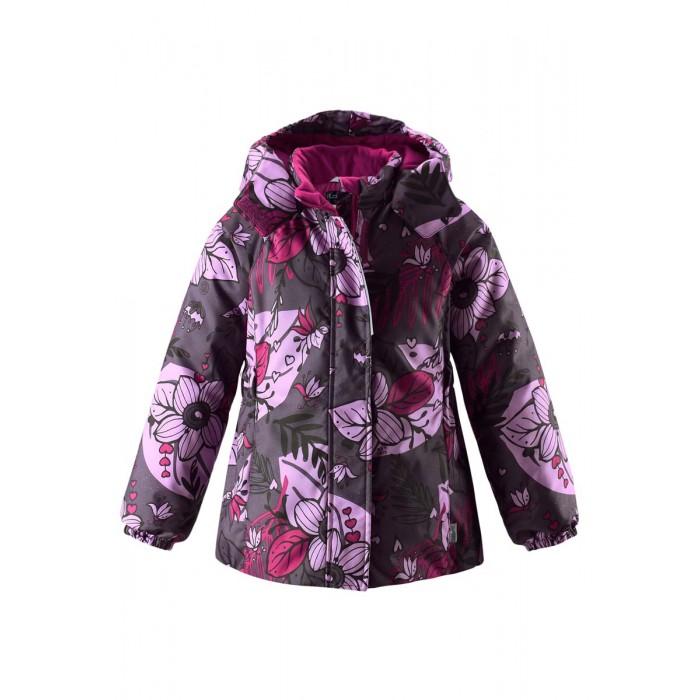 Lassie Куртка зимняя 721714Куртки, пальто, пуховики<br>Lassie by Reima Куртка зимняя 721714 для детей.  Особенности: водоотталкивающий, ветронепроницаемый и «дышащий» материал крой для девочек гладкая подкладка из полиэстра средняя степень утепления безопасный, съемный капюшон эластичные манжеты эластичная кромка подола карманы в боковых швах от -10 -30  Вес утеплителя: 180 г