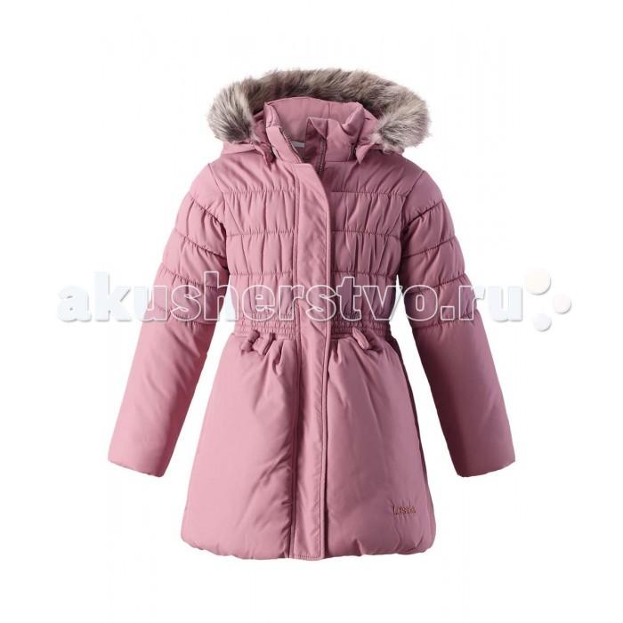 Lassie by Reima Куртка зимняя 721720Куртка зимняя 721720Lassie by Reima Куртка зимняя 721720 для детей.  Особенности: водоотталкивающий, ветронепроницаемый и «дышащий» материал крой для девочек гладкая подкладка из полиэстра безопасный съемный капюшон с отсоединяемой меховой каймой из искусственного меха эластичные манжеты эластичная кромка подола карманы в боковых швах от -10 -30  Вес утеплителя: 200 г<br>