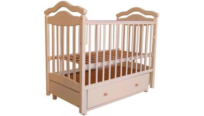 Картинка для Детская кроватка Лаура 8 маятник поперечный