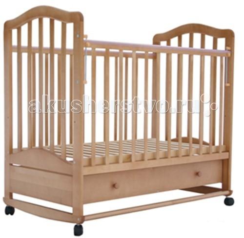 Детская кроватка Лаура 6 с ящиком качалка