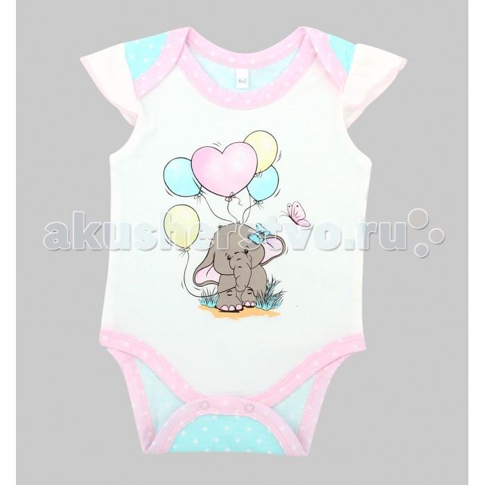 Боди и песочники Leader Kids Боди для девочки Розовый слон ЛКЛ8202354ку40