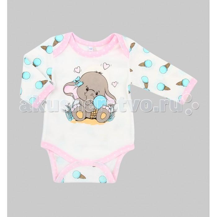 Боди и песочники Leader Kids Боди для девочки Розовый слон ЛКЛ8202357ку40
