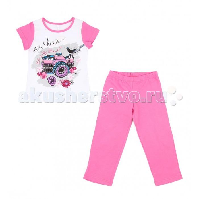 Комплекты детской одежды Leader Kids Комплект для девочки Бантики (футболка, брюки) комплект для девочки 5161oz0a10p01 синий beba kids