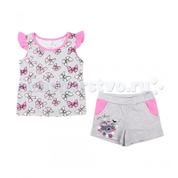 Комплекты детской одежды Leader Kids Комплект для девочки Бантики (майка, шорты) комплект для девочки 5161oz0a10p01 синий beba kids