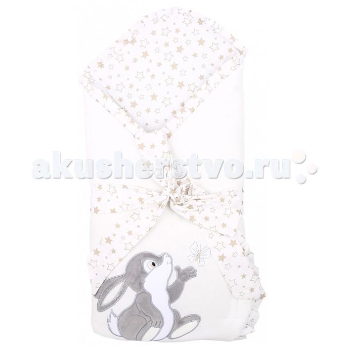 Детская одежда , Конверты на выписку Leader Kids Конверт-одеяло на выписку Зайка с бабочкой арт: 520526 -  Конверты на выписку