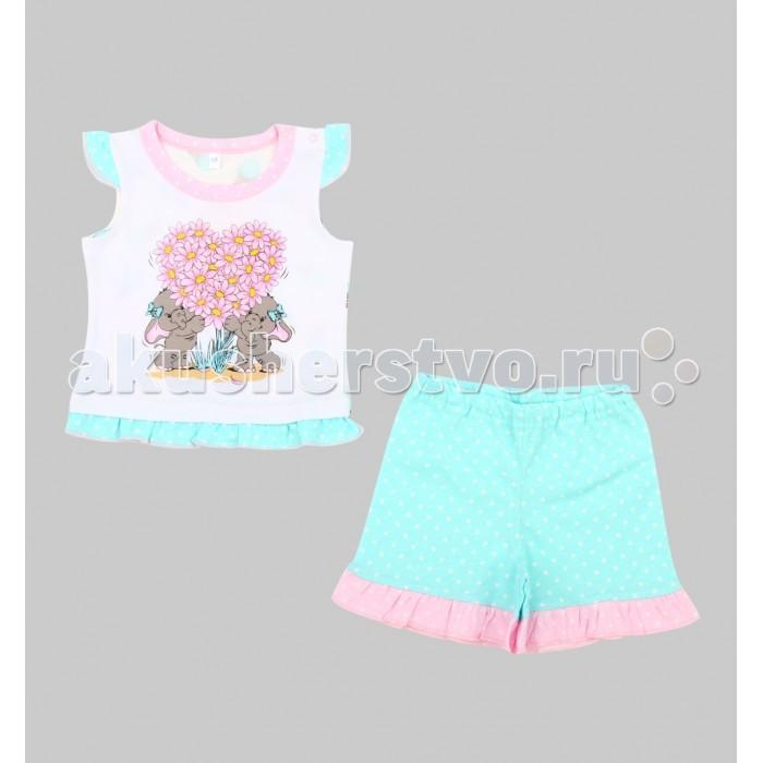 Пижамы и ночные сорочки Leader Kids Пижама для девочки Розовый слон (майка, шорты) пижама жен mia cara майка шорты botanical aw15 ubl lst 264 р 42 44 1119503