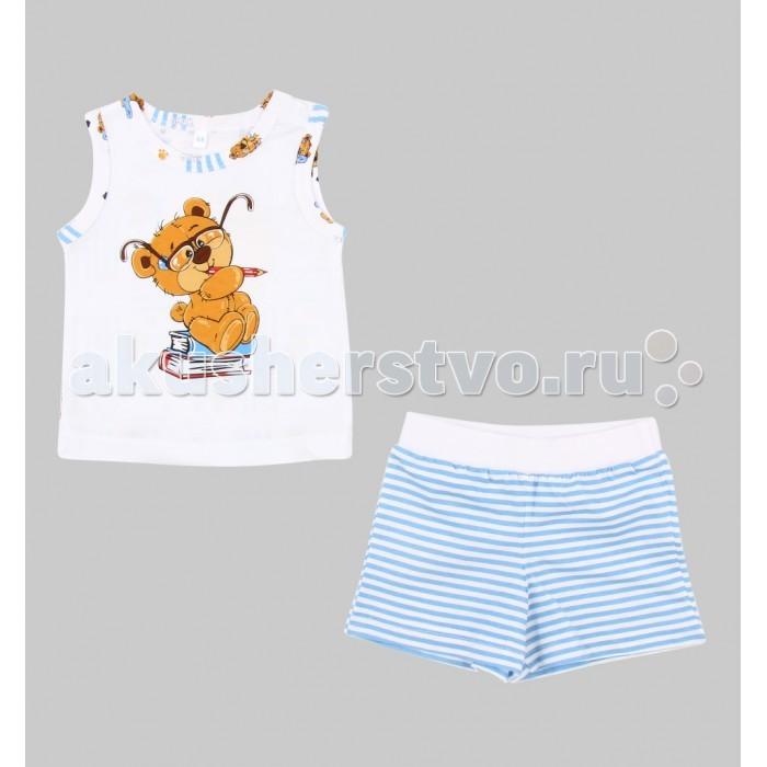 Пижамы и ночные сорочки Leader Kids Пижама для мальчика Мишка косолапый (майка, шорты) мишка косолапый