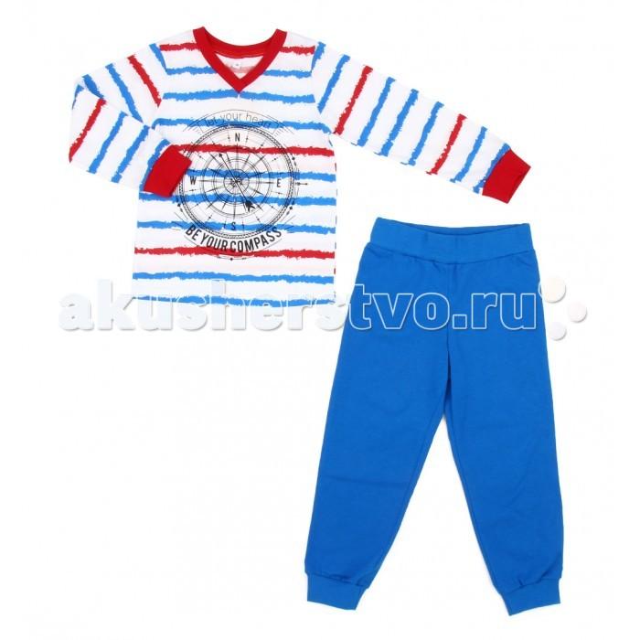 Пижамы и ночные сорочки Leader Kids Пижама для мальчика Sea Travel (футболка, брюки) ЛКЛ8206085 пижама infinity kids для мальчика цвет голубой