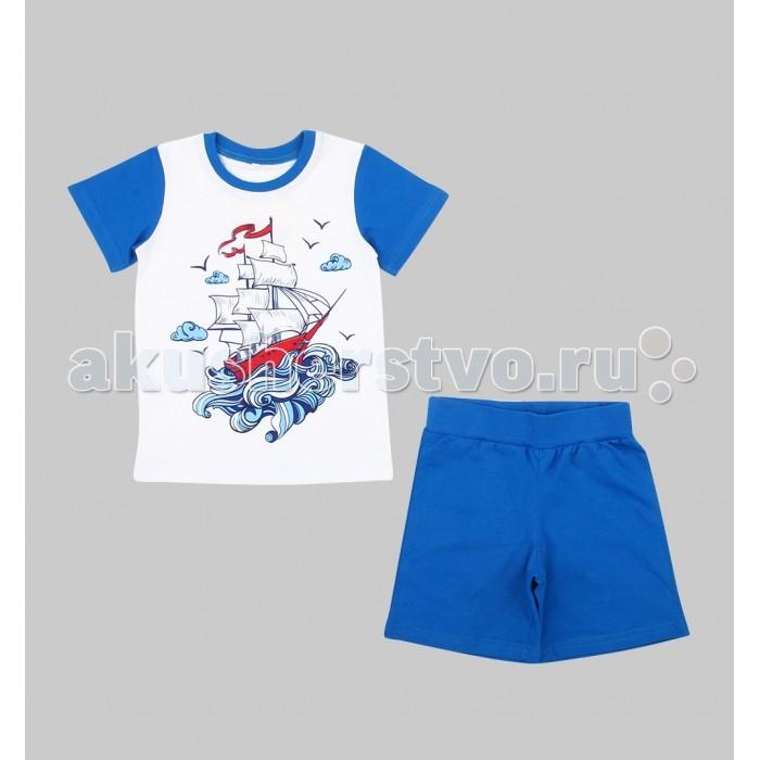 Пижамы и ночные сорочки Leader Kids Пижама для мальчика Sea Travel (футболка, шорты) ЛКЛ8206083 пижама жен mia cara майка шорты botanical aw15 ubl lst 264 р 42 44 1119503
