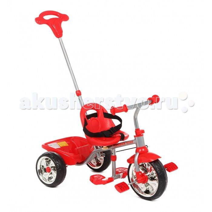 Велосипед трехколесный Leader Kids 31183118Leader Kids Велосипед трёхколёсный 3118 - это легкий и удобный  велосипед для дошкольной возрастной группы. Симпатичный дизайн, широкие устойчивые колеса, удобная корзина для вещей или игрушек, ручка для контроля. Компактный велосипед представляет из себя классическую конструкцию известного всем трехколесного велосипеда, проверенного временем и не одним поколением велосипедистов. Устойчивый и безопасный, он идеально подходит на роль первого велосипеда вашего непоседы. Катаясь на велосипеде ваш маленький спортсмен усовершенствует свои физические навыки и координацию. Его отдых станет не только активным, но и запоминающимся.  Легкий и компактный велосипед удобен при транспортировке, он не займет много места во время хранения. А как на нем легко и весело кататься!   Среди предложенных ярких и сочных расцветок, вы легко подберете ту, которая понравится вашему непоседе. Ведь ни для кого не секрет, что велосипед должен очень нравиться своему владельцу, чтобы у ребенка было желание кататься.  Особенности: Прочная рама устойчива к повреждениям  Удобное сидение  Руль удобен в использовании, имеет нескользящие накладки  Ручка для контроля На таком велосипеде ваш малыш может кататься вплоть до пяти лет  Применение высококачественных, прочных материалов позволит эксплуатировать велосипед много лет, катая не одно поколение ребятишек<br>