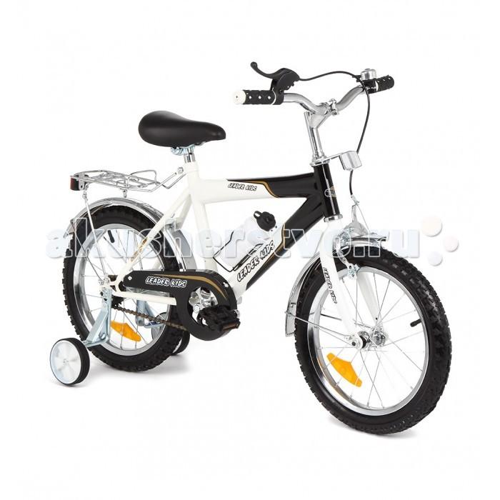 Велосипед двухколесный Leader Kids G16M101G16M101Велосипед Leader Kids    Особенности:    корзина,  багажник,  клаксон(звонок),  тренировочные колеса<br>
