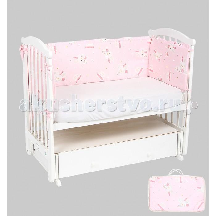 Постельные принадлежности , Бортики в кроватку Leader Kids Кролик с мишкой арт: 337965 -  Бортики в кроватку