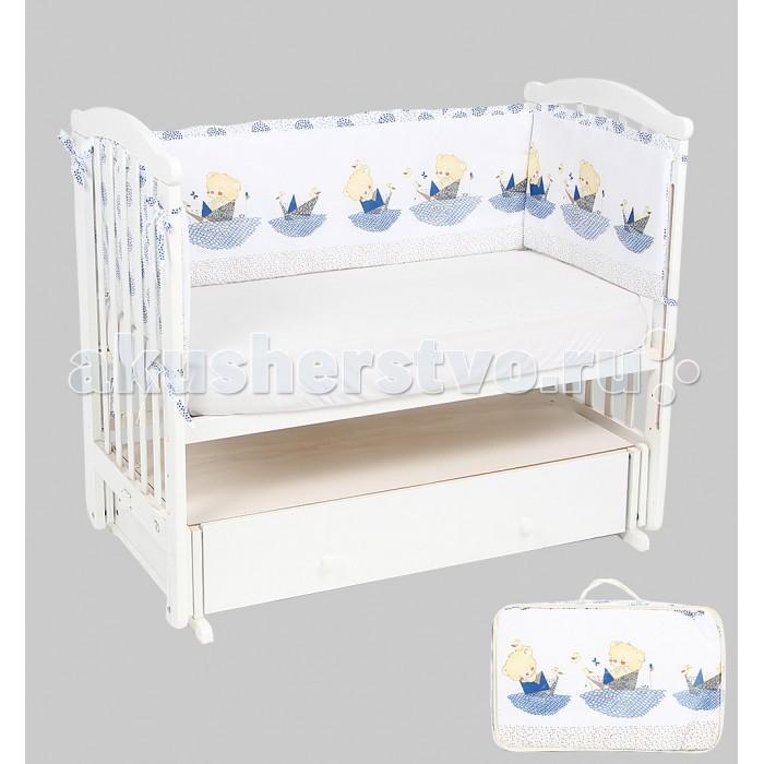 Постельные принадлежности , Бортики в кроватку Leader Kids Мишка в кораблике арт: 337960 -  Бортики в кроватку