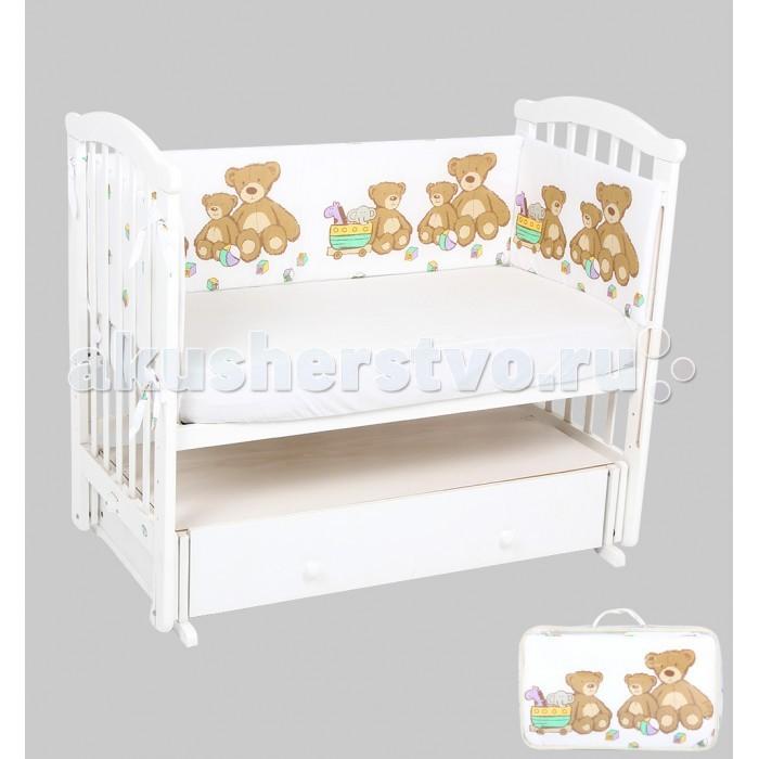 Постельные принадлежности , Бортики в кроватку Leader Kids Мишки с игрушками арт: 337930 -  Бортики в кроватку