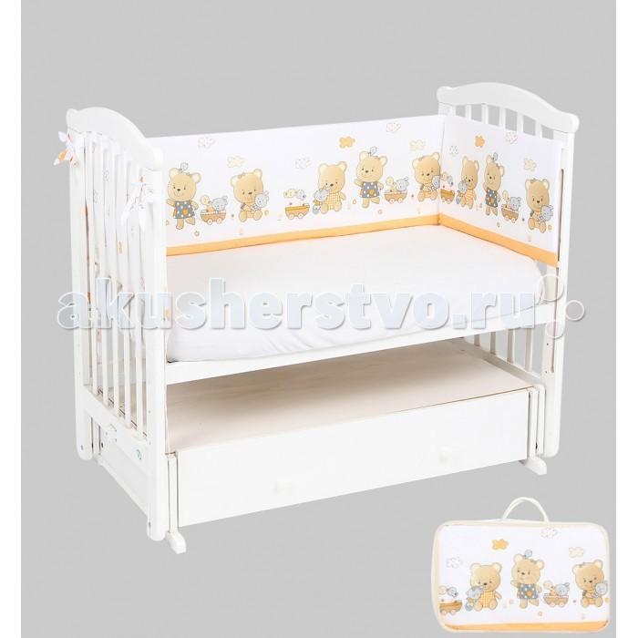 Постельные принадлежности , Бортики в кроватку Leader Kids Мишки с коляской арт: 337865 -  Бортики в кроватку