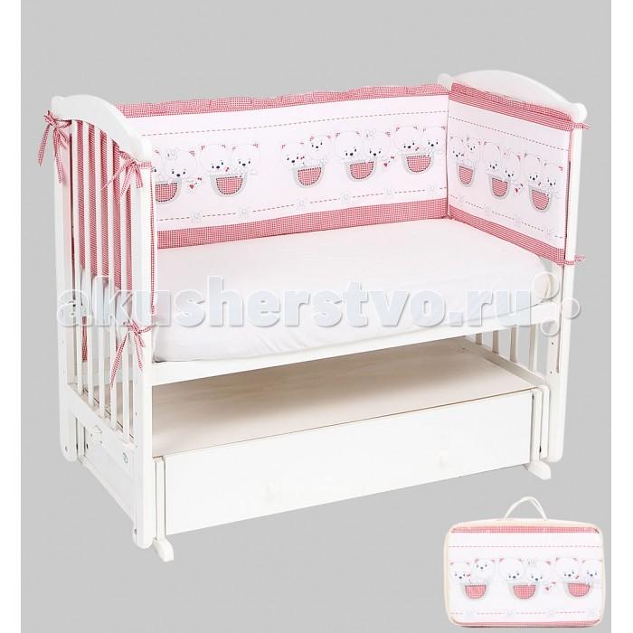 Постельные принадлежности , Бортики в кроватку Leader Kids Мишки в кармане арт: 337950 -  Бортики в кроватку