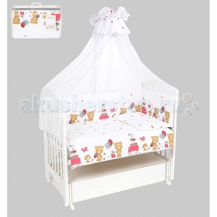 Комплекты в кроватку Leader Kids Мишкин праздник (7 предметов) leader kids постельное белье собачки 7 пред leader kids бязь розовый