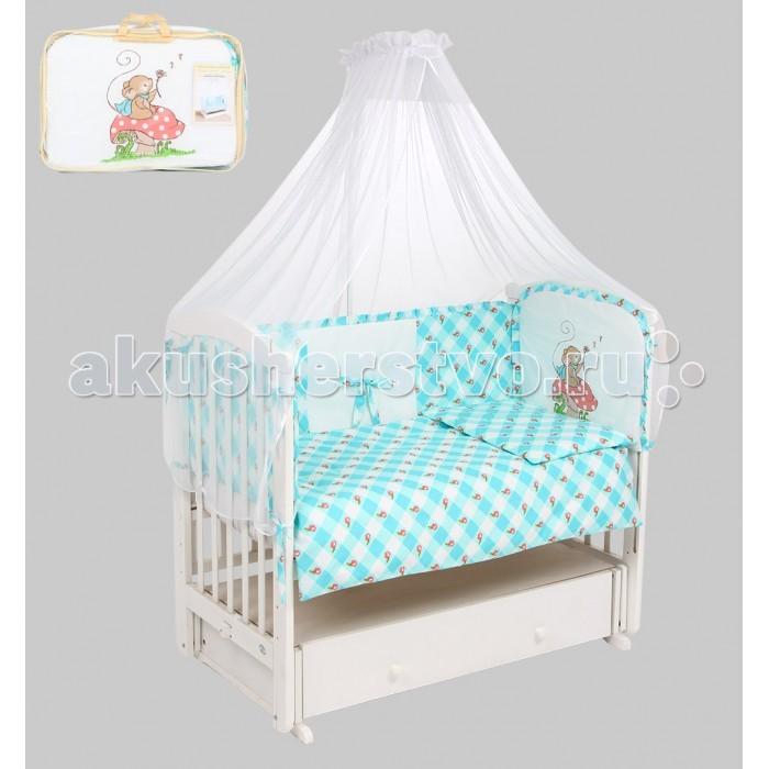 Комплект в кроватку Leader Kids Мышка-норушка (7 предметов)