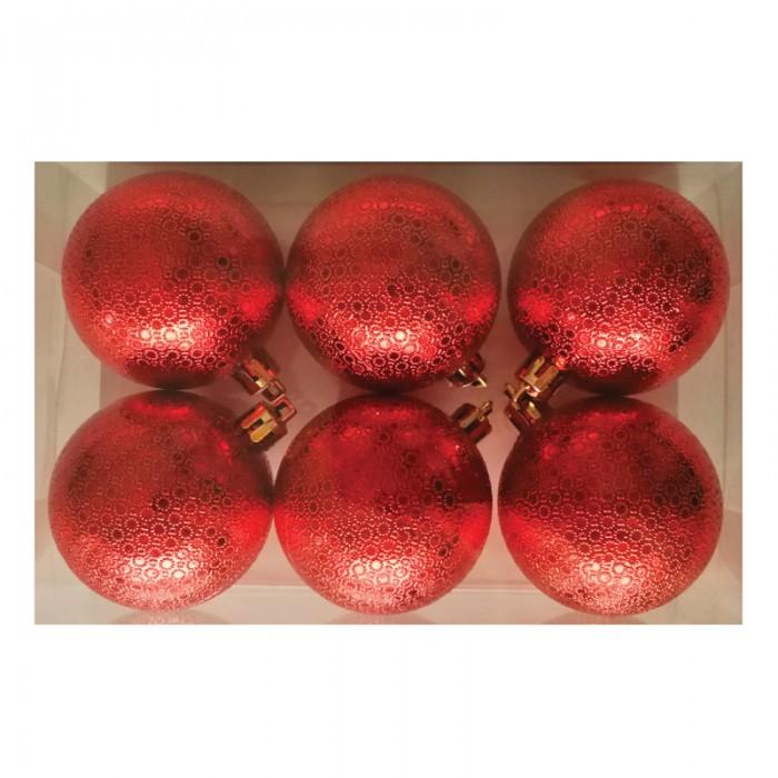 Фото - Елочные игрушки Феникс Презент Набор новогодних шаров Калейдоскоп 6 шт 60 мм набор стеклянных шаров рождественские сны 60 мм 20 шт