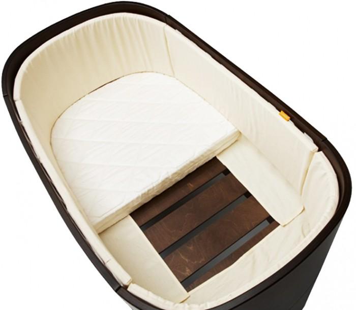 Бампер для кроватки Leander круговойкруговойБампер круговой для кроватки Leander – предназначен для того, чтобы сделать стенки кроватки Вашего малыша более безопасными и обеспечить комфортное нахождение ребенка внутри нее, интересен по своему цветовому решению, создает дополнительный уют и привлекает внимание Вашего крохи.  Бампер Leander изготовлен только для кроватки-трансформера с размерами 70-120см.   Материалы: высококачественный 100% хлопок (стандарт Еко-Тех), наполнитель - 100% полиэстер, легко стирается при 30 градусах   Крепление: при помощи липучек   Функциональность:   сделает стенки кроватки более безопасными;   можно разделить на 4 части, и использовать только там, где он действительно необходим (например, когда Вы снимите боковую решетку)<br>