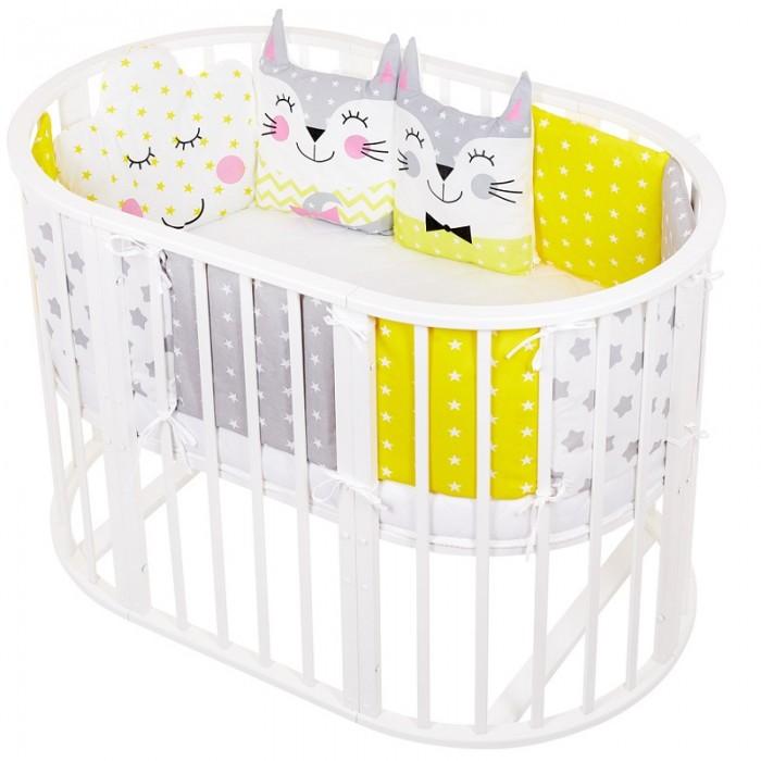 Картинка для Бортики в кроватку Lemony kids Cats 11 подушек