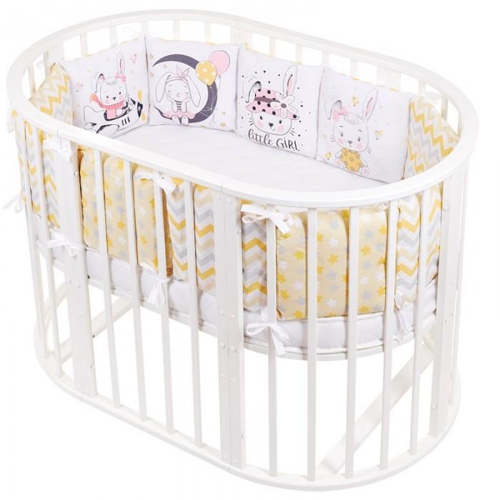 Картинка для Бортики в кроватку Lemony kids Kiddy Зайки 12 подушек
