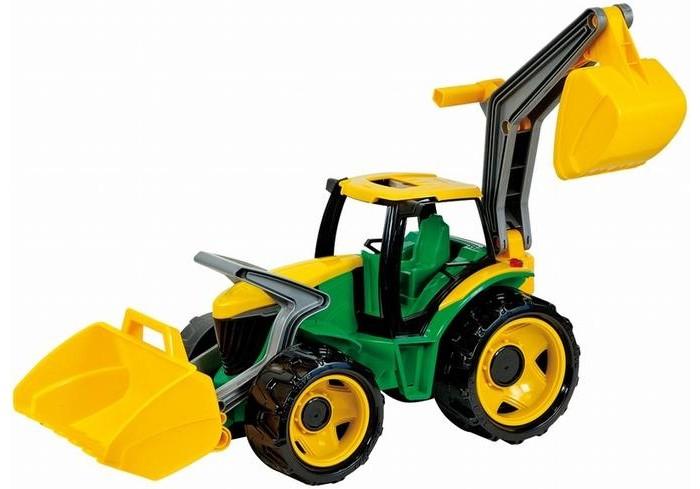 потрогай и узнай большие машины Машины Лена Трактор с грейдером и ковшом 107 см