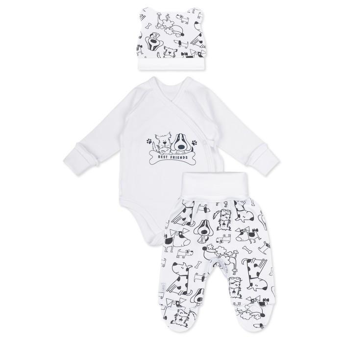 Комплекты детской одежды Лео Комплект Best friends (боди, ползунки и шапочка) 1004А-7