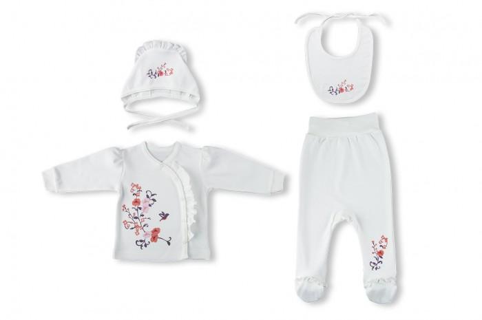 Комплекты детской одежды Лео Комплект для девочки Камелия 1506-0 крестильный комплект для малышей лео