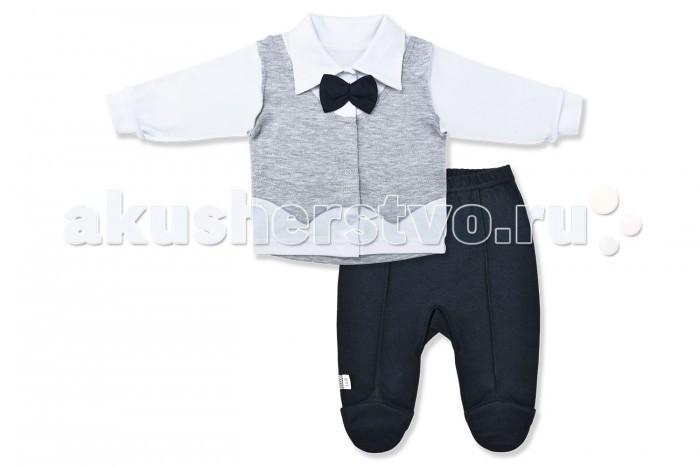 Лео Комплект для мальчика Джентльмен (кофточка и ползунки) Комплект для мальчика Джентльмен (кофточка и ползунки)
