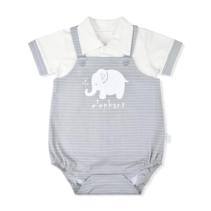 Лео Комплект (футболка, песочник) Слоненок