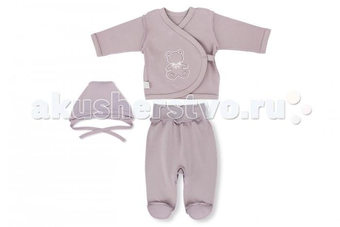 Комплекты детской одежды Лео Комплект (кофточка+ползунки+шапочка) МиниМишки 1528-0 крестильный комплект для малышей лео