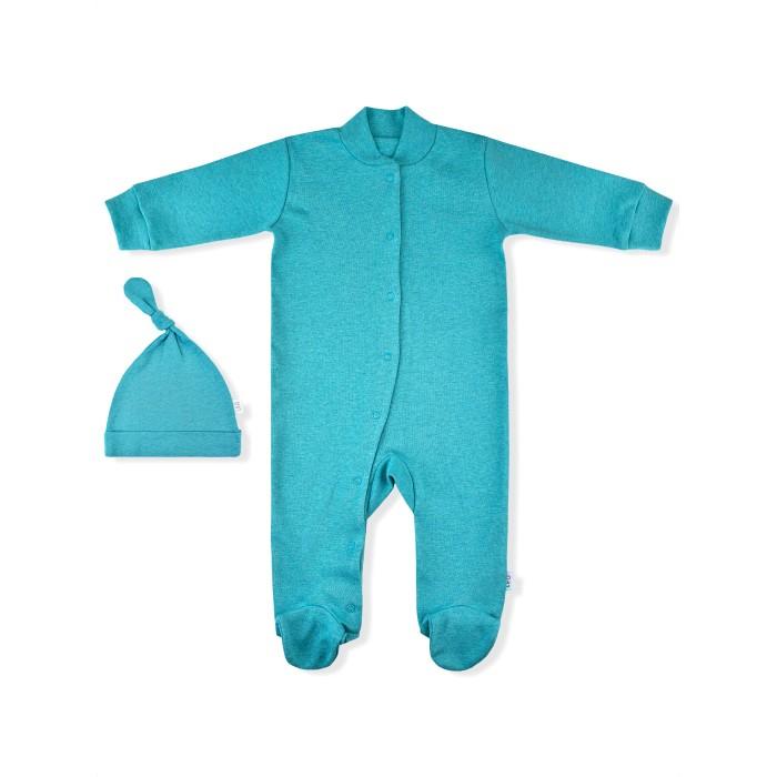Комплекты детской одежды Лео Комплект (комбинезон со следками, шапочка)