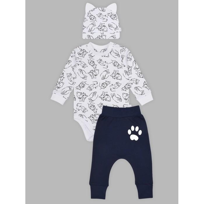 Комплекты детской одежды Лео Комплект Мур-мур (3 предмета) комплекты детской одежды лео комплект тигренок боди и полукомбинезон 3013а 1