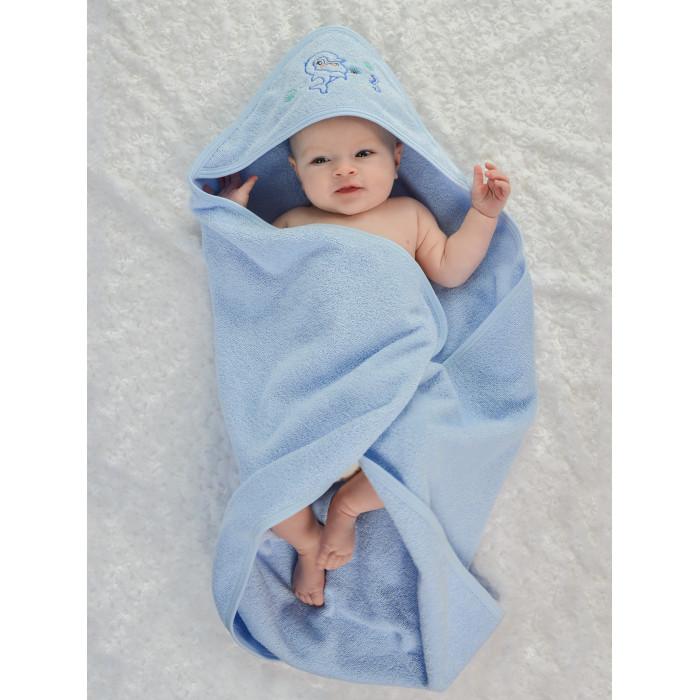 Лео Пеленка-полотенце махровая Дельфин 95х95 см