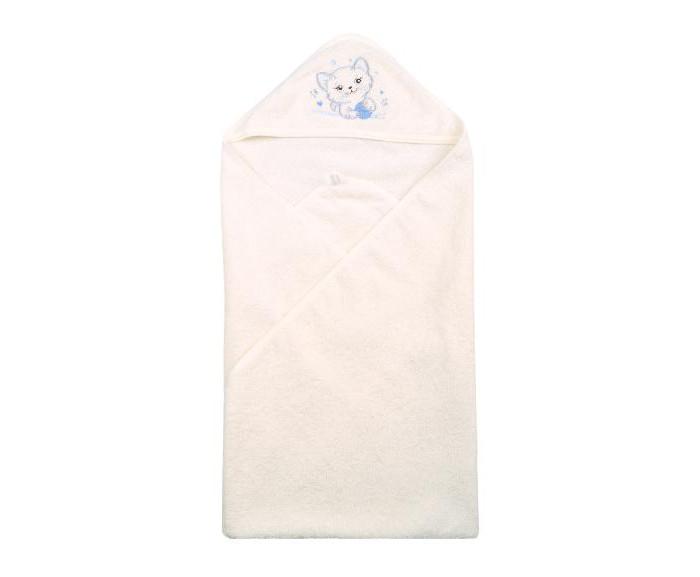 Лео Пеленка-полотенце махровая Котенок 95х95 см