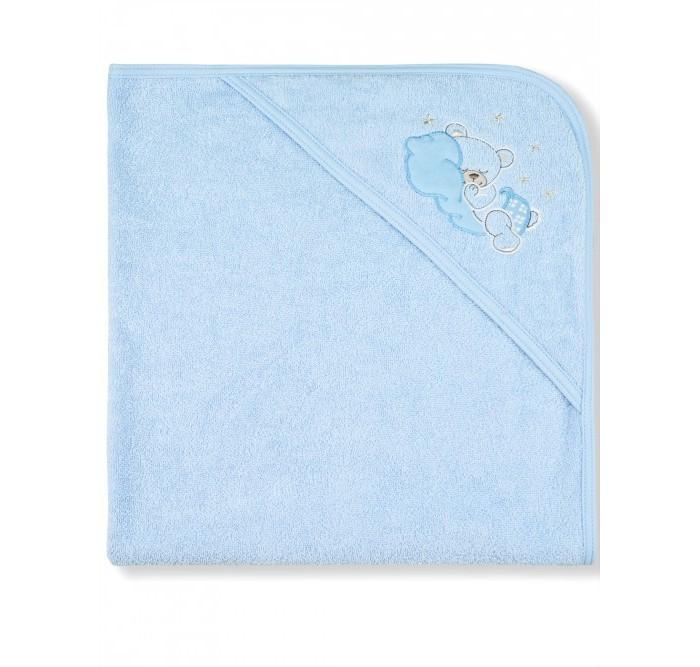 Лео Пеленка-полотенце махровая Мишка на облаке 95х95 см