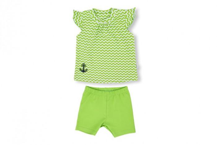 Комплекты детской одежды Лео Комплект для девочки (футболка, лосины) Юнга зигзаг