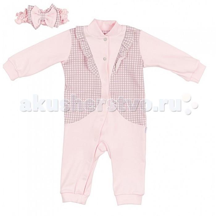 Комплекты детской одежды Лео Комплект для девочки Фокстрот (комбинезон на манжетах, повязка) riffi повязка для волос цвет коралловый