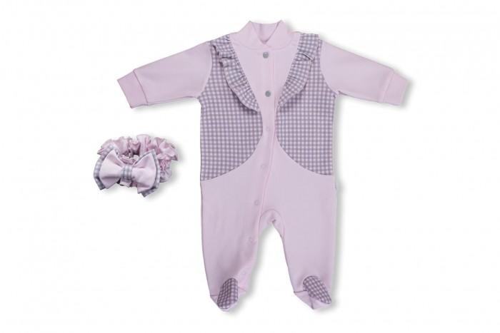 Комплекты детской одежды Лео Комплект для девочки Фокстрот (комбинезон со следками, повязка) riffi повязка для волос цвет коралловый
