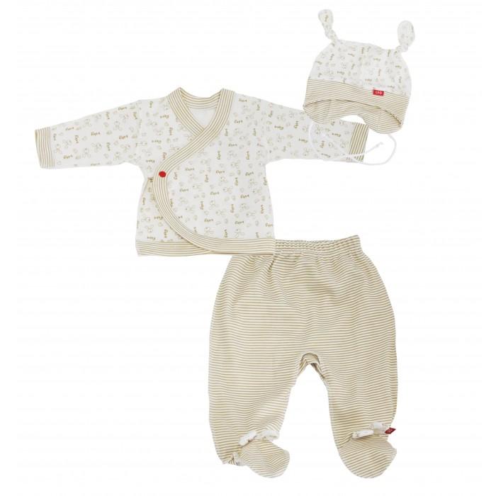 Комплекты детской одежды Лео Комплект Малыш из распашонки, ползунков и шапочки 1574-3 распашонки и кофточки веселый малыш распашонка 12132