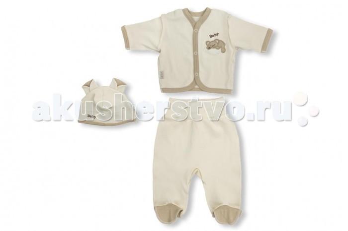 Комплекты детской одежды Лео Комплект Мишка на облаке (кофточка, ползунки, шапочка) цена 2017