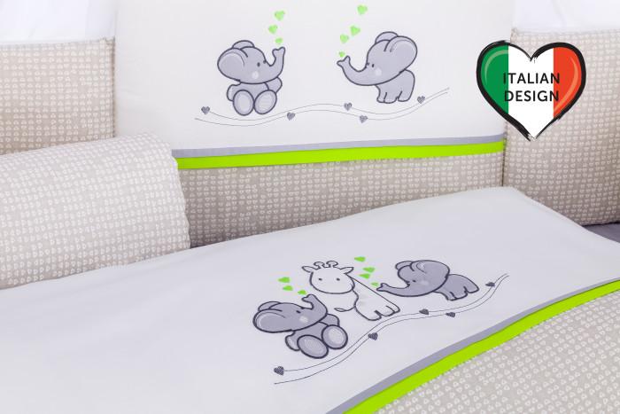 Постельные принадлежности , Комплекты в кроватку Lepre Funny friends (6 предмета) арт: 419129 -  Комплекты в кроватку