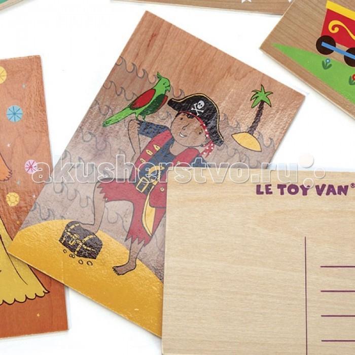 Деревянные игрушки LeToyVan Открытка деревянная париж открытка