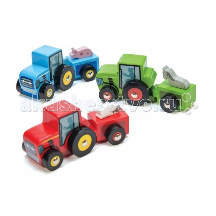 Деревянные игрушки LeToyVan Трактор с прицепом трактор с прицепом св ход 36см dickie