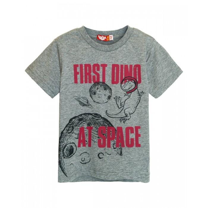 Картинка для Let's Go Футболка для мальчика First dino at space