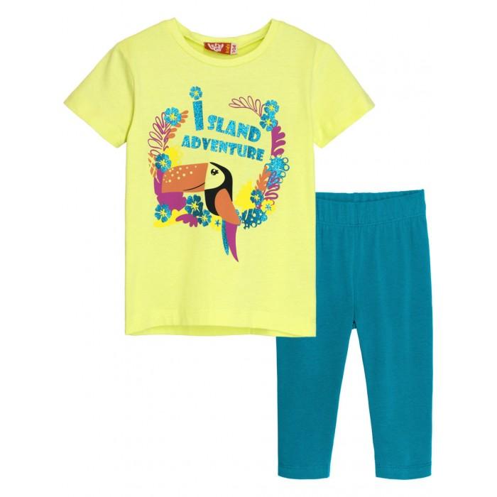 Let's Go Комплект для девочки футболка и бриджи 4164