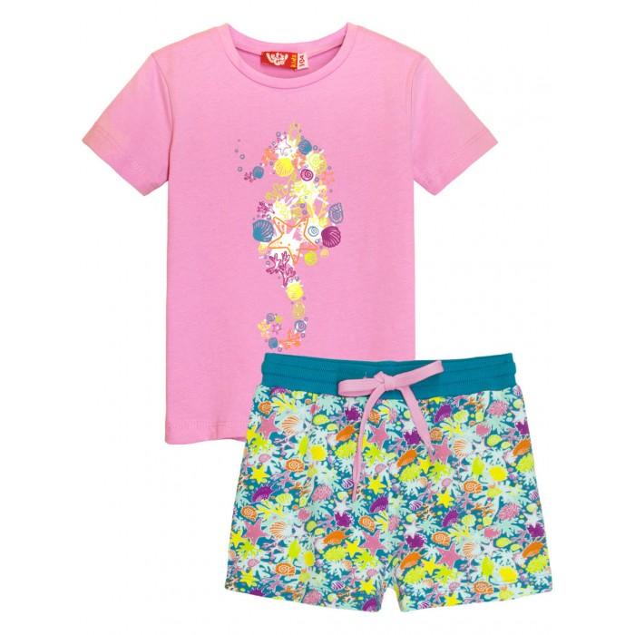 Let's Go Комплект для девочки футболка и шорты 4167