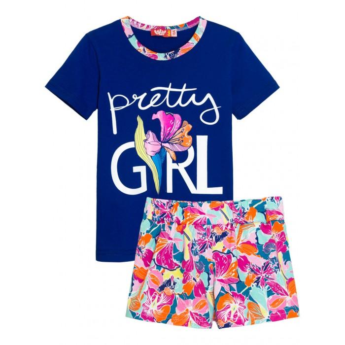 Let's Go Комплект для девочки футболка и шорты 4171